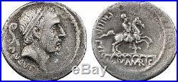 Denier, Marcia, Ancus Martius, 56 av J-C Rome, aqueduc, RARE 1
