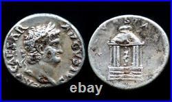 Denier NERON (64-66) VESTA (argent / silver) Denarius Néro fourré
