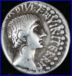 Denier Octave au temple Rome 36 AC