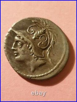 Denier Republique Romaine Minucia 103 Av. J. C