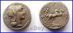Denier Romain Argent Claudius Pulcher 41bc Roman Silver Denarius Ancient Coin