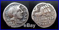 Denier Romain Argent Curtius 116 Bc Roman Silver Denarius Ancient Coin