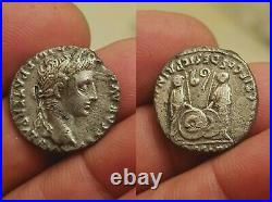 Denier d'AUGUSTE LYON Lugdunum CAIUS et LUCIUS / Roman denarius AUGUSTUS TTB+