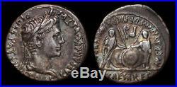 Denier d'Auguste Caius et Lucius TTB /SUP! Belle monnaie homogène des 2 côtés
