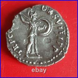 Denier de L'empire Domitien Rome 87 en Argent