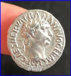 Denier de TRAJAN (98-117) VESTA, TTB+ roman coin, denari
