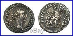 Denier de Trajan certificat d'authenticité