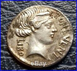 Denier de la République romaine SCRIBONIA -62 Av-jc