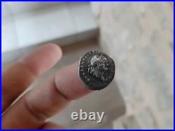 Denier denarius Vespasien revers modius