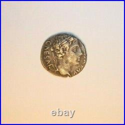Denier en argent d'Auguste avec la comète de César