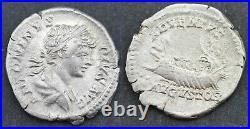 Denier en argent de Caracalla Galère Rome 202 après J. C. (L010)