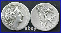 Denier en argent de Herennia Pietas Amphinomus Rome B 108 avant J. C. (L046)
