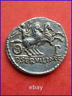 Denier république Romaine SERVILLIA argent
