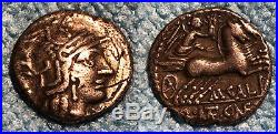 Denier romain CALIDIA 116 Av J. C. TTB+ R2 argent SUP
