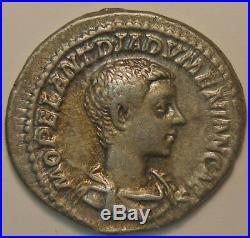 Empire romain, Diadumenianus, Denier, R/ PRINC IVVENTVTIS, 3.27 Grs, TTB