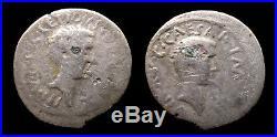 Empire romain Lépide et Octave Denier fourré (43-42 BC) RARE