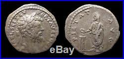 Empire romain Septime Sévère Denier (194) PIETAT AVG Emesa