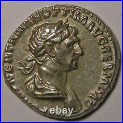Empire romain, Trajan, Traianus, Denier, R/ SALVS AVG/ PARTHICO P M TR P COS VI