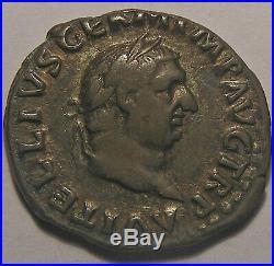 Empire romain, Vitellius, Denier, R/ PONT MAXIM, 2.82 Grs, TTB+