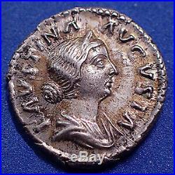 FAUSTINA Minor, FAUSTINE II, femme de Marc Aurèle, denier Rome en 161-175, Pulvi
