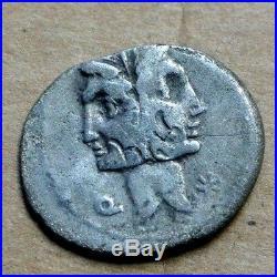 FONTEIA Denier argent 114/113 av jc poids 3gr64 RARE