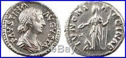 Faustine jeune, denier, Rome, 161 175, IVNONI REGINAE, SUP 11