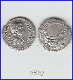 Gertbrolen Denier argent de Caracalla Galère naviguant à gauche Cohen 3