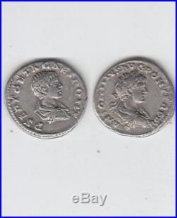 Gertbrolen Denier argent de Caracalla & de Geta Rare Avec Deux portraits