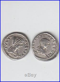 Gertbrolen Denier argent de Julia Domna et de Geta Très rare avec deux portraits