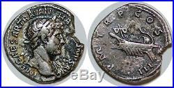 HADRIEN Denier P M TR P COS III +122 ROME C. 1174