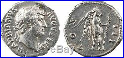 Hadrien, denier, Rome, 125-128, COS III, Victoire 37