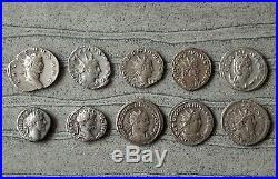 Important Lot De 10 Monnaies Romaines En Argent (deniers Et Antoniniens) Tb/ttb