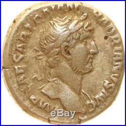 L9748 Hadrian Denier Denarius AD 117-138 Rome TRAIAN HADRIANVS AVG Silver FO