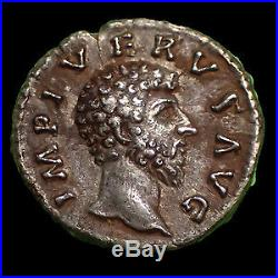LUCIUS VERUS, denier Rome en 161-162, PROC DEOR TR P III COS II Providentiae, 17