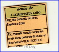 L SCRIBONIUS LIBO DENIER ARGENT poids 3gr75