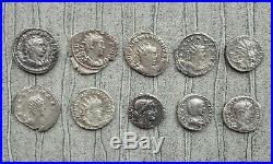 Lot 1 10 Monnaies Romaines En Argent Antoniniens Et Deniers État B+ À Ttb