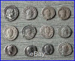 Lot 1 De 12 Monnaies Romaines En Argent Antoniniens Et Deniers État Tb/ttb