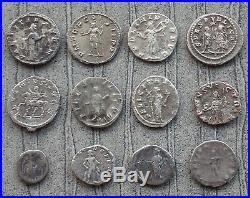 Lot 2 De 12 Monnaies Romaines En Argent Antoniniens Et Deniers État B+/ttb