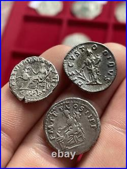 Lot 3 Deniers Argent Romains Trajan-commode-pertinax