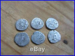 Lot 6 monnaie antique argent, denier romain empereur Hadrien à identifier