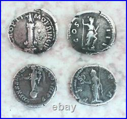 Lot De 10 Beaux Deniers Romains En Argent État Tb/ttb. Très Belle Qualité! Rares