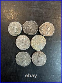 Lot De 7 Deniers Romains