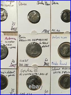 Lot De 9 Deniers Et Antoniniens Romains Dont Jules Cesar