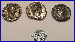 Lot Monnaies Gallo Romaine 3 deniers Septime Sévère Romaine 1 Kaletedoy Gaulois