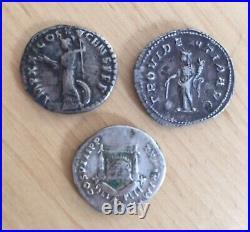 Lot de 3 deniers romains roman coin empereurs Titus, Maximus, Domitien