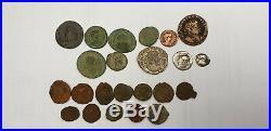 Lot monnaie romaine, numus, denier, obole, bronze au taureau et a l'aigle