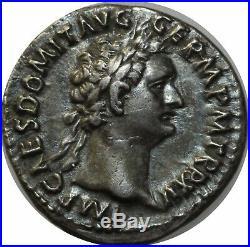 M3976 TRES RARE Denier Domitian 81 96 IMP XXII COS XVII CENS Argent SUPERBE