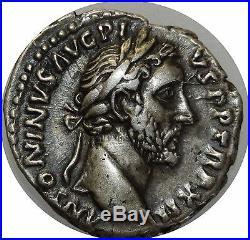 M3988 RARE Denier Antoninus Pius Rome 148-149 COS IIII Argent Silver -FO