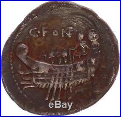 M6281 Rare Denier C. Fonteius 114/113 BC Silver Denarius laureate Janiform head