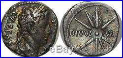M751 RARE Octavian as Augustus 27-14 Denier Caesaraugusta CAESAR DIVVS IVLIVS Si